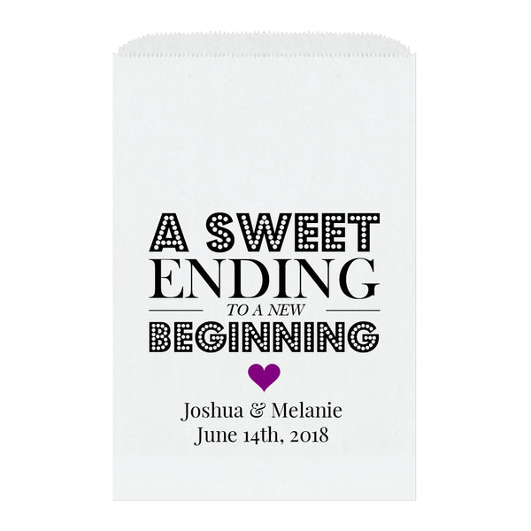 A sweet ending to a new beginning bags - Purple - Dazzling Daisies