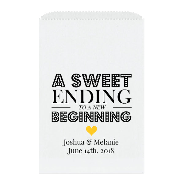 A sweet ending to a new beginning bags - Yellow - Dazzling Daisies