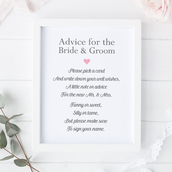 Wedding advice sign 'Simple Elegance' -  - Dazzling Daisies