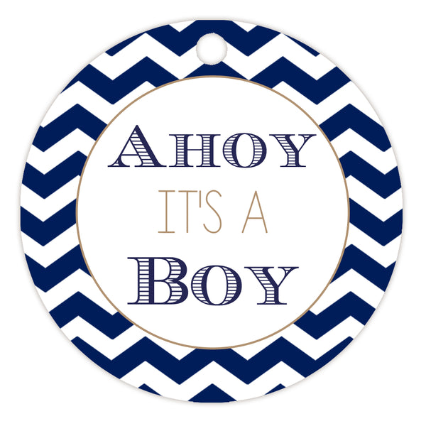Ahoy it's a boy tags - Sand - Dazzling Daisies