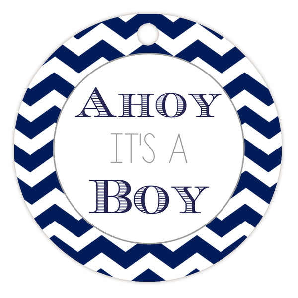 Ahoy it's a boy tags - Silver - Dazzling Daisies