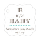 B is for baby tags - Aquamarine - Dazzling Daisies