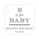 B is for baby tags - Black - Dazzling Daisies