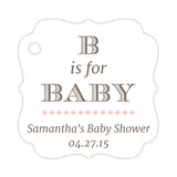 B is for baby tags - Blush - Dazzling Daisies