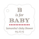 B is for baby tags - Indian red - Dazzling Daisies