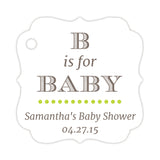 B is for baby tags - Lime - Dazzling Daisies