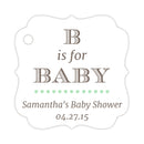 B is for baby tags - Mint - Dazzling Daisies