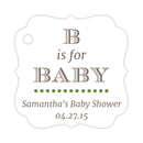B is for baby tags - Olive - Dazzling Daisies