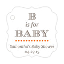 B is for baby tags - Orange - Dazzling Daisies