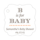 B is for baby tags - Peach - Dazzling Daisies