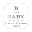 B is for baby tags - Pink - Dazzling Daisies
