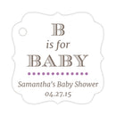 B is for baby tags - Plum - Dazzling Daisies