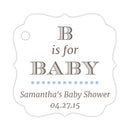 B is for baby tags - Steel blue - Dazzling Daisies