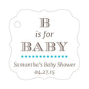 B is for baby tags - Turquoise - Dazzling Daisies