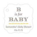 B is for baby tags - Yellow - Dazzling Daisies