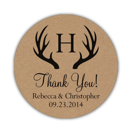 Wedding reception thank you cards 'Rustic Lines'