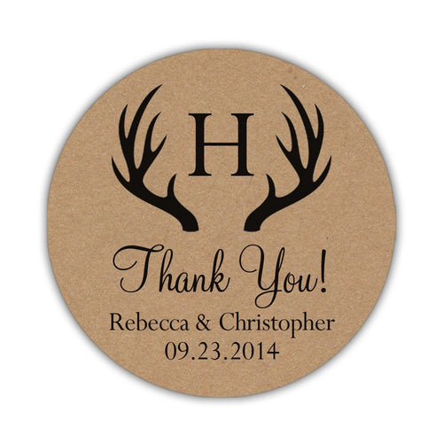 Rustic thank you stickers -  - Dazzling Daisies