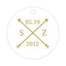 Arrow wedding tags - Gold - Dazzling Daisies