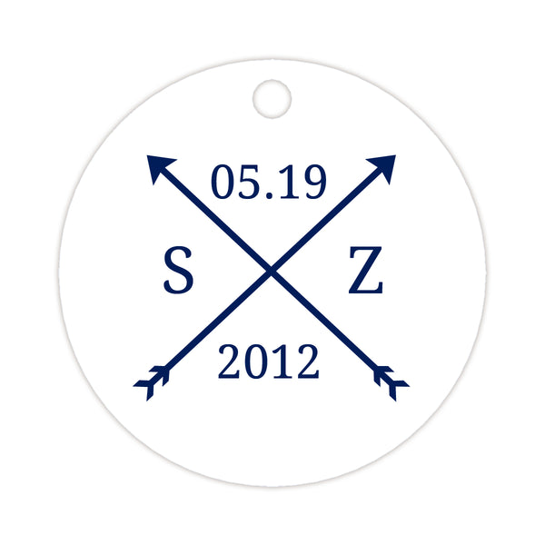 Arrow wedding tags - Navy - Dazzling Daisies