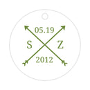 Arrow wedding tags - Olive - Dazzling Daisies