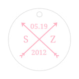 Arrow wedding tags - Pink - Dazzling Daisies