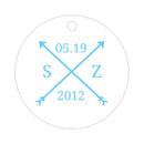 Arrow wedding tags - Sky blue - Dazzling Daisies