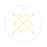 Arrow wedding tags - Sunrise - Dazzling Daisies