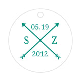 Arrow wedding tags - Teal - Dazzling Daisies