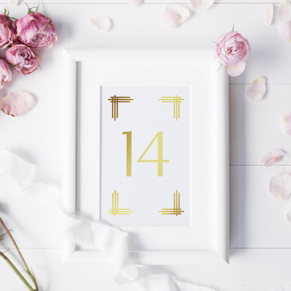 Art deco table numbers foil -  - Dazzling Daisies