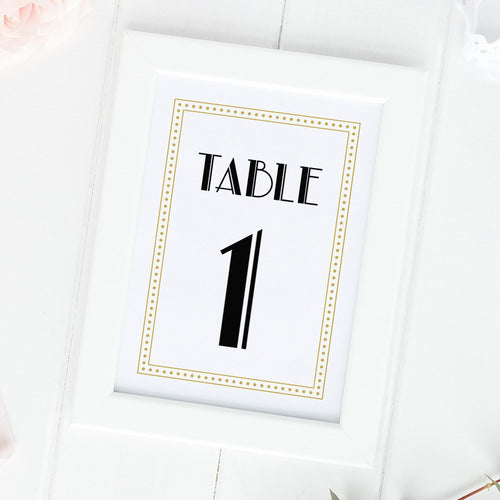 Art deco table numbers -  - Dazzling Daisies