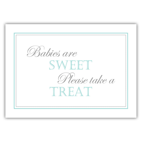 "Babies are sweet sign - 5x7"" / Aquamarine - Dazzling Daisies"