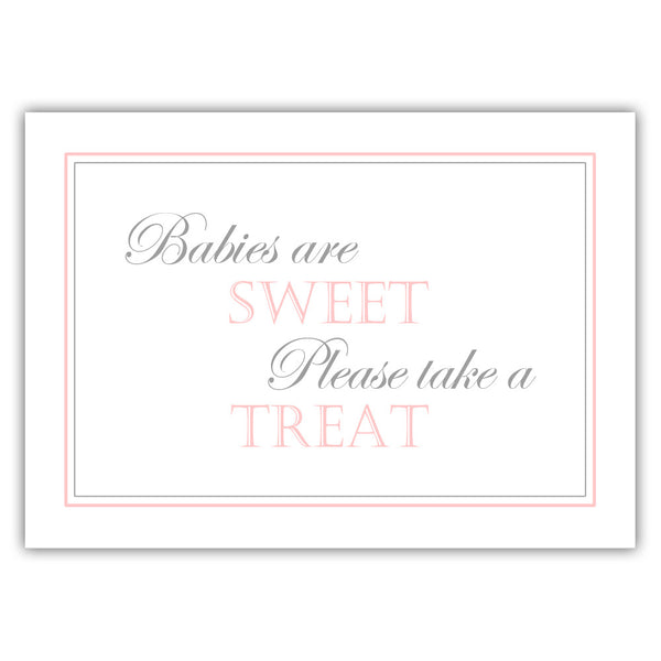 "Babies are sweet sign - 5x7"" / Blush - Dazzling Daisies"