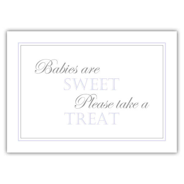 "Babies are sweet sign - 5x7"" / Lavender - Dazzling Daisies"