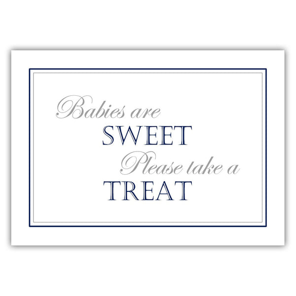 "Babies are sweet sign - 5x7"" / Navy - Dazzling Daisies"