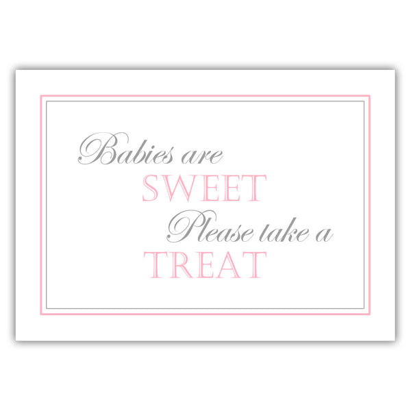 "Babies are sweet sign - 5x7"" / Pink - Dazzling Daisies"
