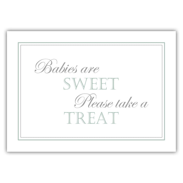"Babies are sweet sign - 5x7"" / Sage - Dazzling Daisies"