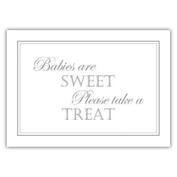"Babies are sweet sign - 5x7"" / Silver - Dazzling Daisies"