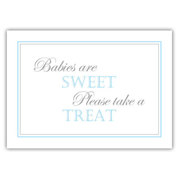 "Babies are sweet sign - 5x7"" / Sky blue - Dazzling Daisies"