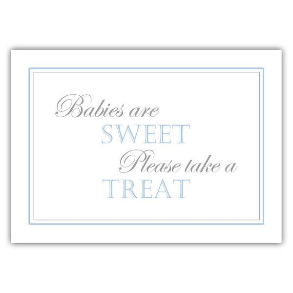 "Babies are sweet sign - 5x7"" / Steel blue - Dazzling Daisies"