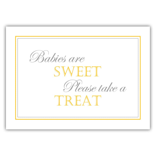 "Babies are sweet sign - 5x7"" / Yellow - Dazzling Daisies"