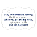 Baby shower champagne bottle tags - Gray/Navy - Dazzling Daisies