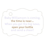 Baby shower champagne bottle tags - Sand/Lavender - Dazzling Daisies