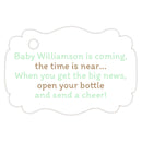Baby shower champagne bottle tags - Sand/Mint - Dazzling Daisies