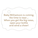 Baby shower champagne bottle tags - Sand - Dazzling Daisies