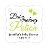 Baby making potion tags - Lime - Dazzling Daisies
