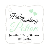 Baby making potion tags - Mint - Dazzling Daisies