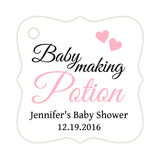 Baby making potion tags - Pink - Dazzling Daisies