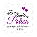 Baby making potion tags - Purple - Dazzling Daisies
