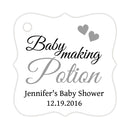 Baby making potion tags - Silver - Dazzling Daisies