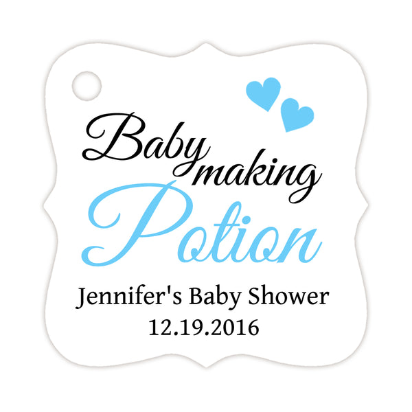Baby making potion tags - Sky blue - Dazzling Daisies